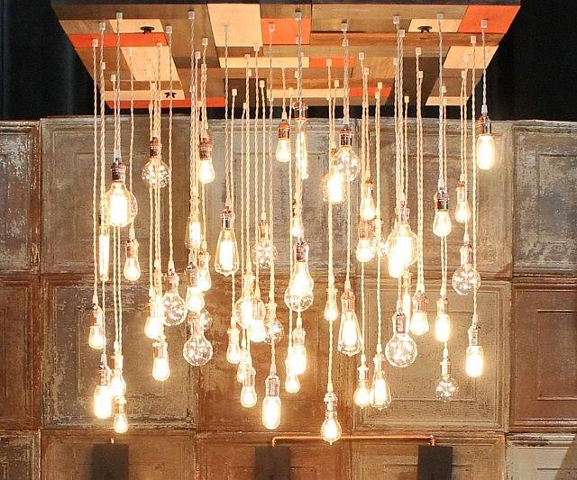 Vintage Light Bulbs Chandelier