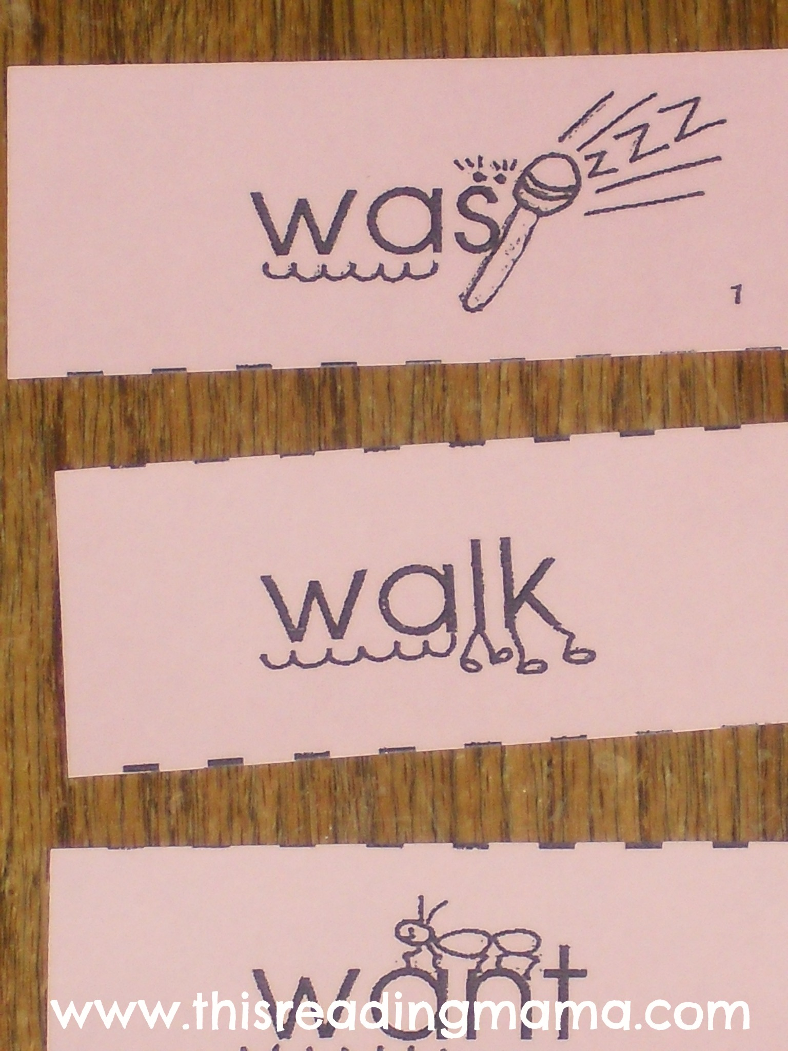 Mnemonic Cues For Wa Sight Words