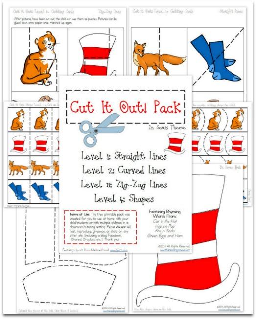 Dr Seuss Cut It Out Pack