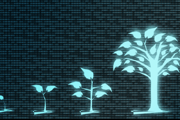 Digital background with trees