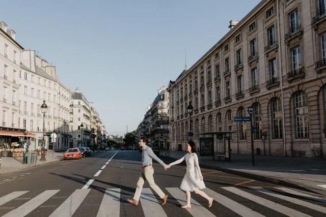 Pantheon Paris early morning street