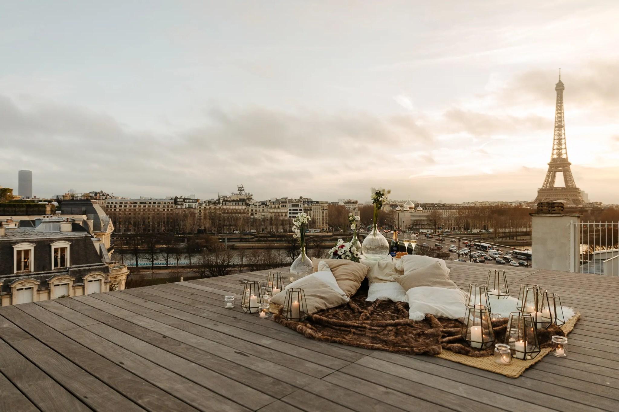paris wedding rooftop eiffel