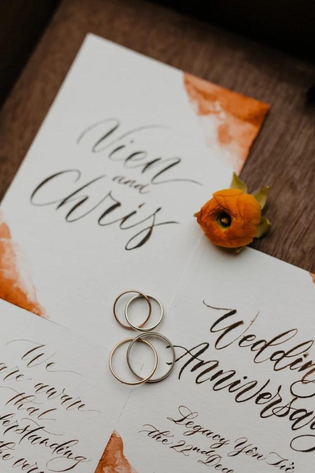 Legacy Yen Tu wedding invitation ring