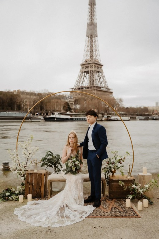 multi-cutural intimate ceremony autumn elopement wedding paris photographer