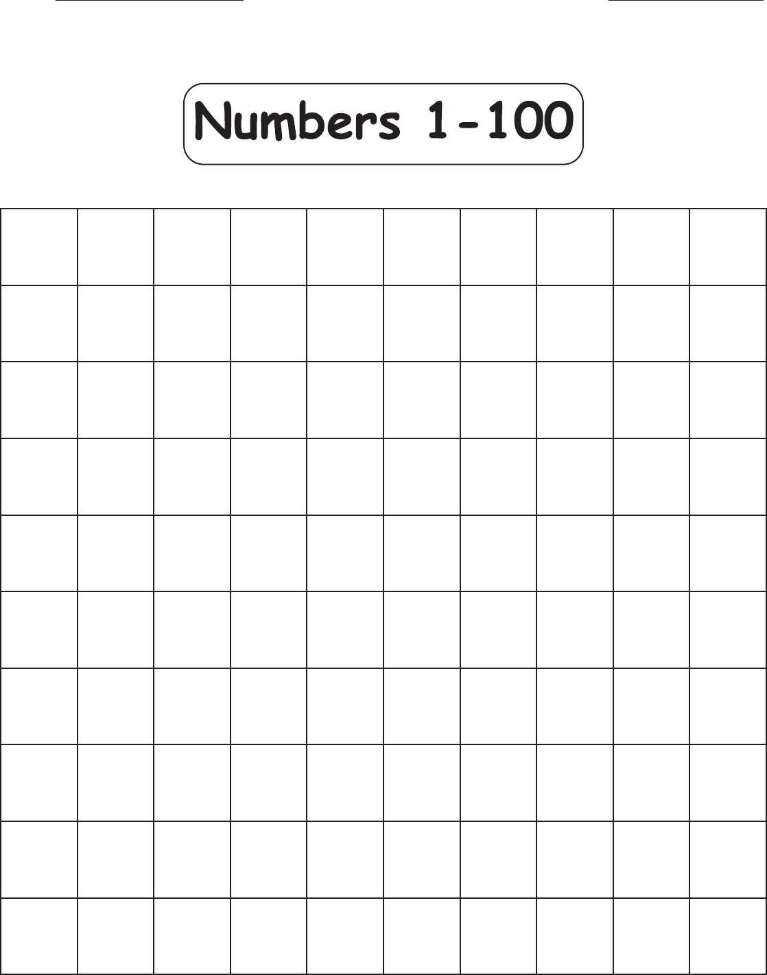 Download 1 100 Missing Numbers Worksheet Template For Free