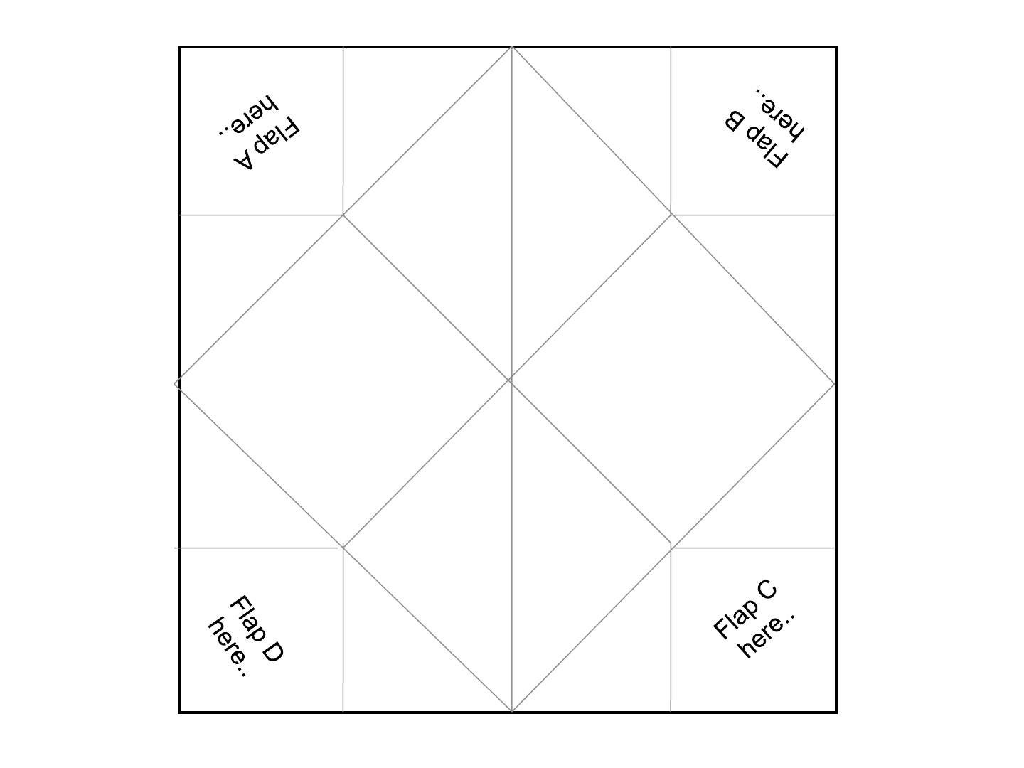 Download Cootie Catcher Template 1 For Free