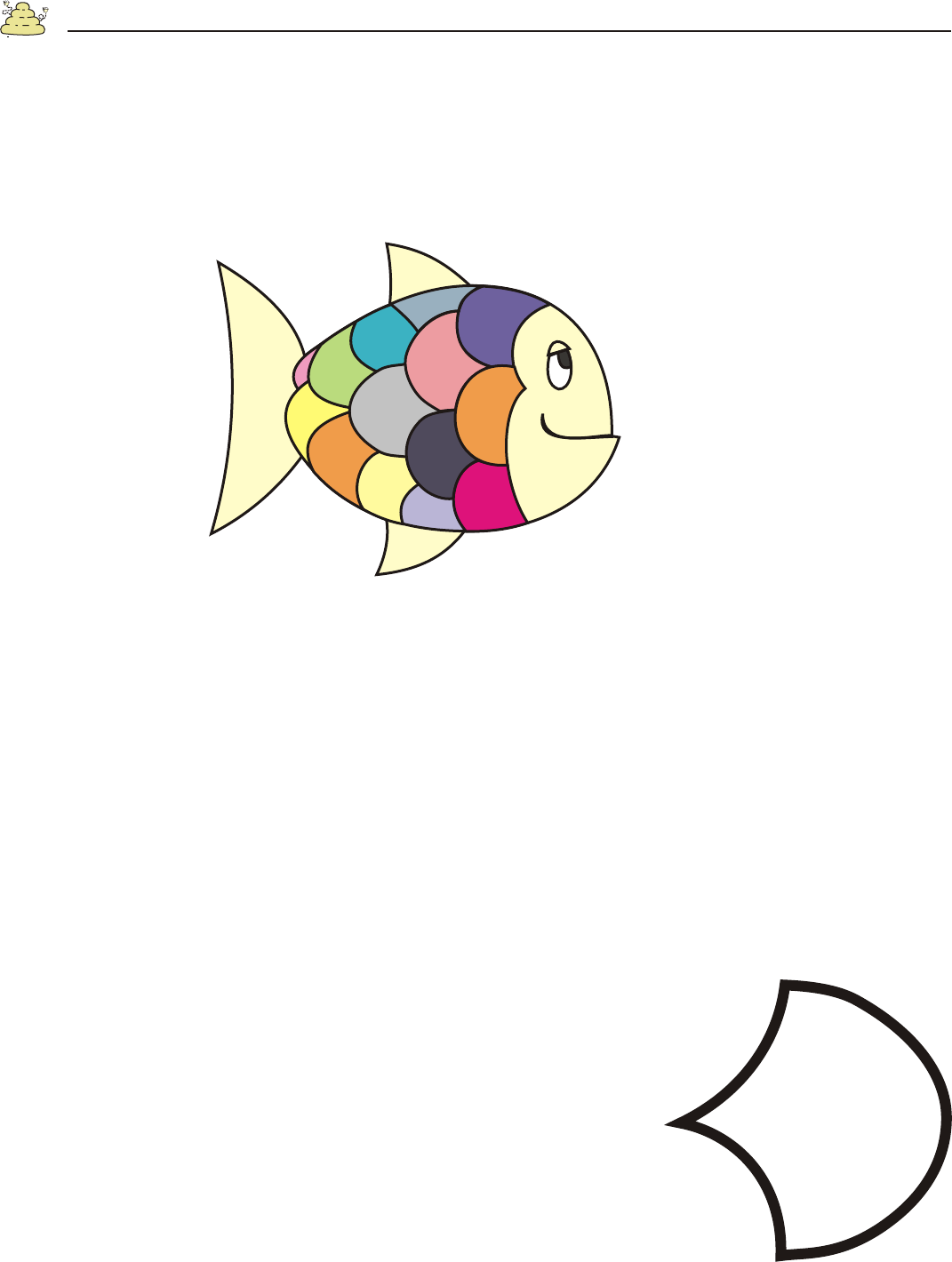 Download Rainbow Fish Template For Free