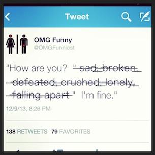 actual tweet from @OMGFunniest 12/9/2013