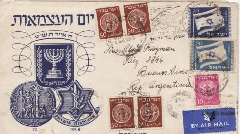 Lettre envoyée au jour de l'indépendance (Crédit : Alexander Winogradsky Frenkel)