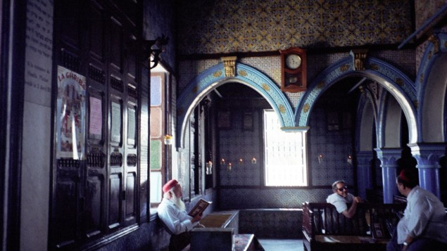 Djerba Jews at the El-Ghriba Synagogue on Tunisia's southern island. (photo credit:upyernoz via CC/JTA)