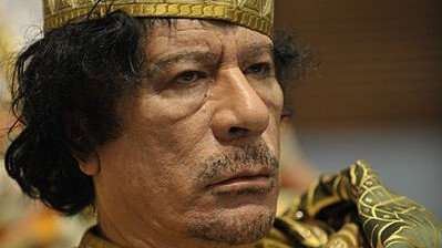 The late Col. Muammar Gaddafi (photo credit: Jesse B. Awalt/Wikimedia Commons)
