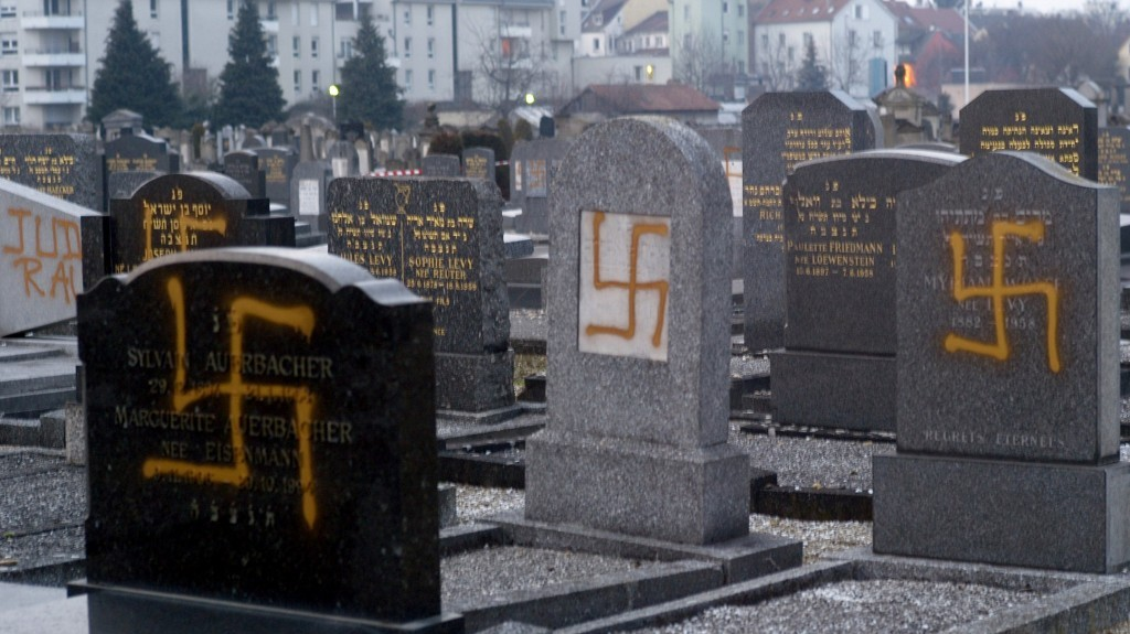 Image result for images of anti semitism and vandalism