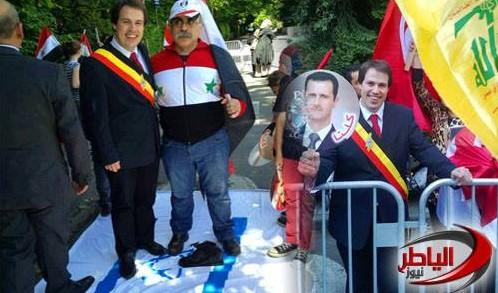 Laurent Louis (izquierda) se encuentra en la bandera de Israel (Foto: Facebook)