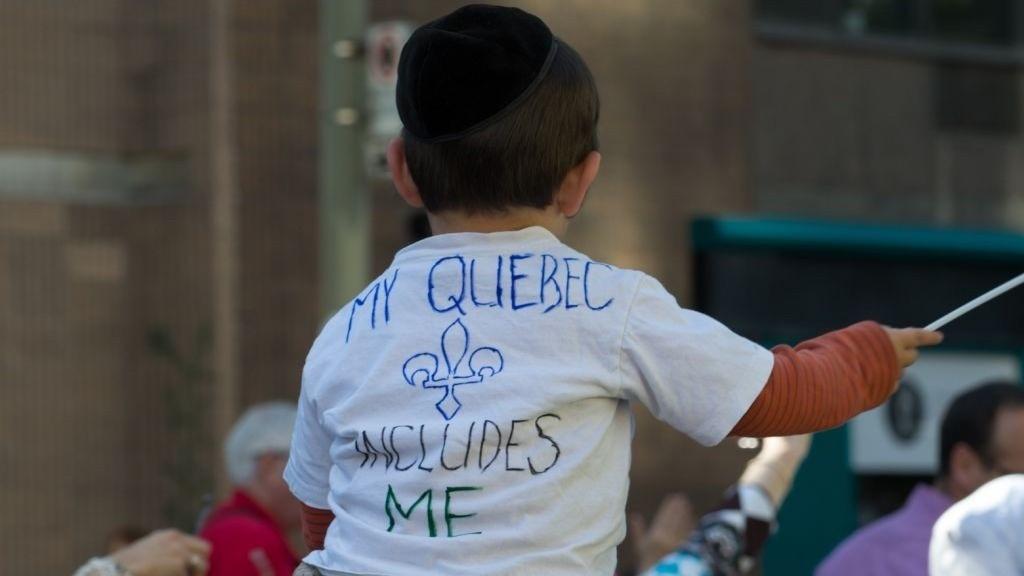 Illustrative: a Jewish boy in Montreal. (photo credit: David Ouellette/JTA)