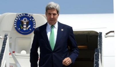 John Kerry, secrétaire d'Etat américain, en charge des négociations de paix entre Israël et l'Autorité paestinienne (Crédit : Matty Stern/Ambassade américaine à Tel Aviv/Flash90)