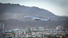 Illustration d'un avion décollant de l'aéroport d'Eilat (Crédit photo : Moshe Shai/Flash90)