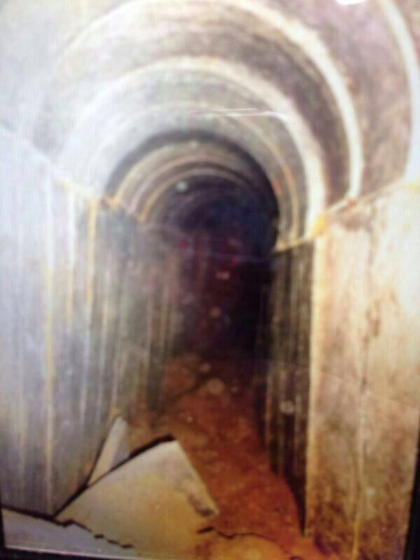 Hamas terror tunnel from July 18 2014