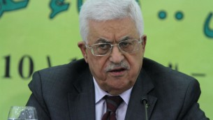 Palestinian president Mahmoud Abbas delivers a statement at a conference in the West Bank town of Ramallah on October 18, 2014. (photo credit: FLASH90)