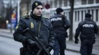 Des policiers dans les rues de Copenhague après les 2 attaques dans la capitale (Crédit : CLAUS BJORN LARSEN / AFP)