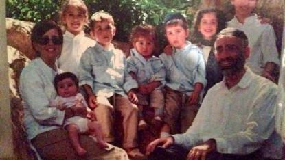 La famille Sassoon qui a perdu 7 de leur 8 enfants lors de l'incendie de leur maison samedi 21 mars 2015 (Crédit : Autorisation)