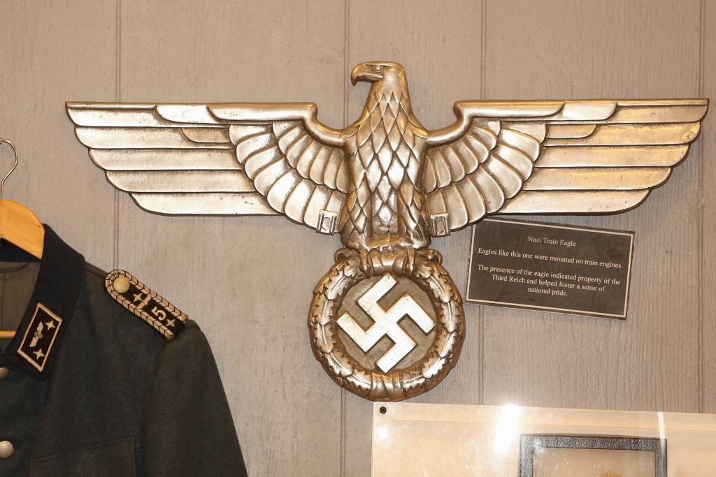 Nazi-related items from the collection of Massachusetts-based collector Darrell English, whose New England Holocaust Institute & Museum is seeking a permanent home (photo credit: Elan Kawesch/The Times of Israel)