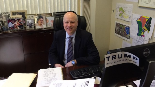Jason Dov Greenblatt, Donald Trump's top real estate lawyer and an Orthodox Jew, is one of three members on the Republican nominee's Israel Advisory Committee.