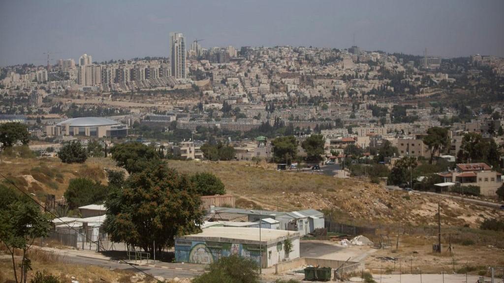 View of caravans in Givat Hamatos neighborhood of Jerusalem on July 05, 2016. (Lior Mizrahi/Flash90)