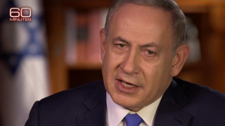 El primer ministro Benjamin Netanyahu habla a 60 Minutes de CBS en una entrevista emitida el 11 de diciembre del 2016 (CBS captura de pantalla)