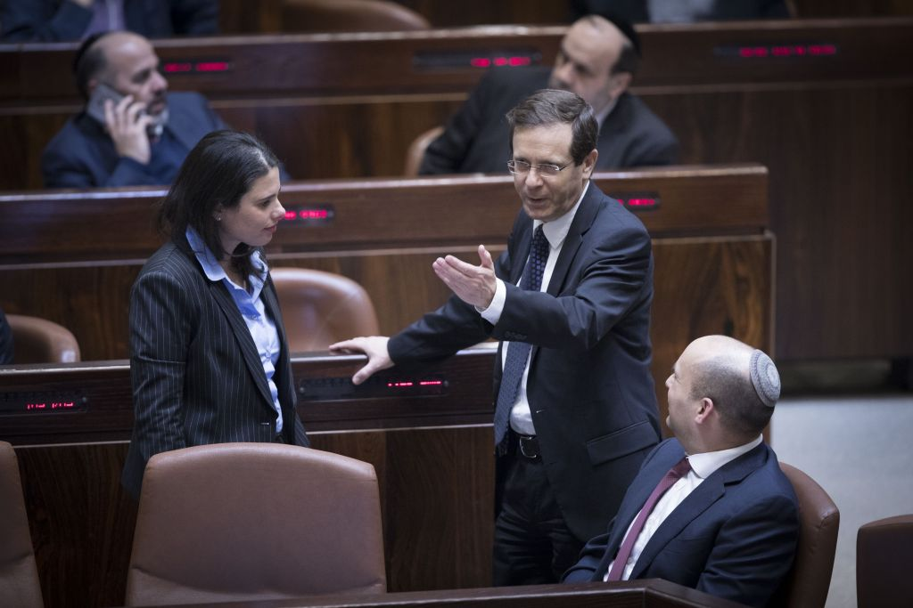 Opposition chairman Isaac Herzog in the Knesset