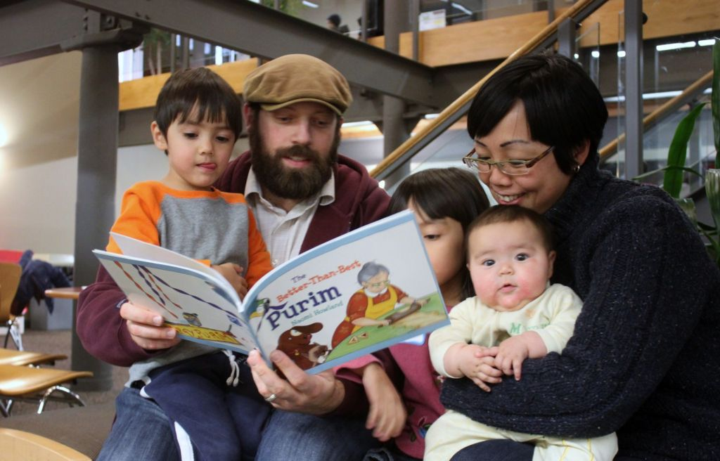 Parents like reading to kids beyond age 8, and PJ Library is honing in on that habit (Courtesy PJ Library)