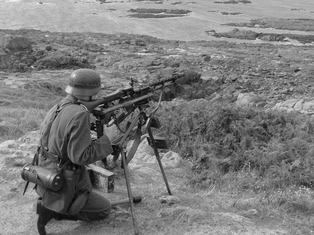 A German soldier guarding the Atlantic Wall in the Channel Islands during WWII. (Getty images/iStock)