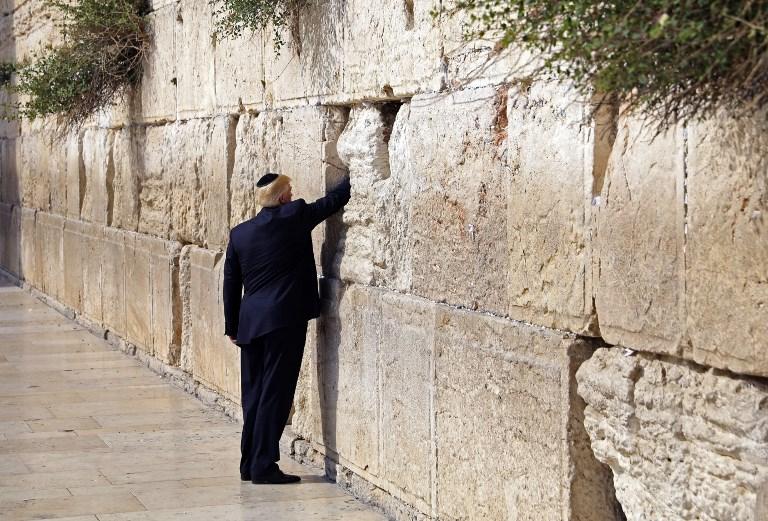 Αποτέλεσμα εικόνας για président américain Donald Trump (C-L) dans la vieille ville de Jérusalem le 22 mai 2017
