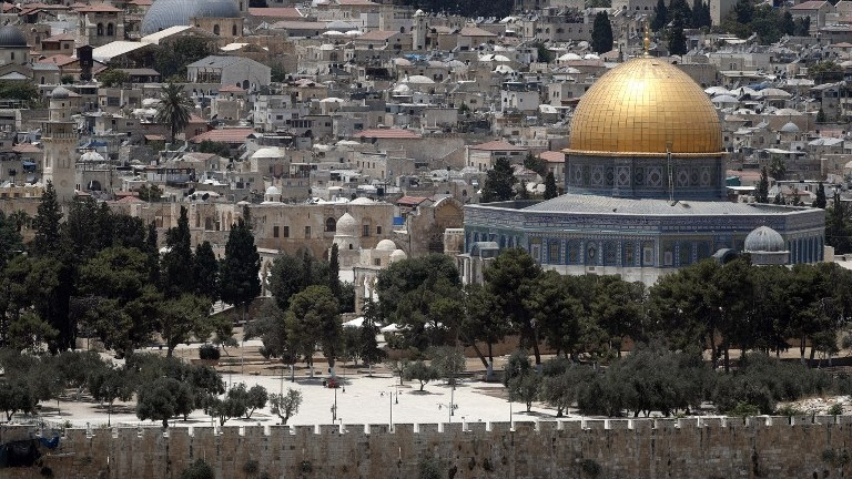 A picture taken on July 17, 2017, shows the Temple Mount compound in the Old City of Jerusalem. (AFP Photo/Thomas Coex)