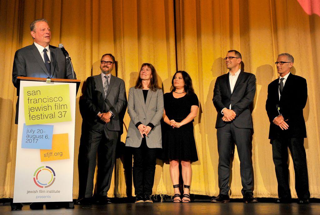 Al Gore speaks at the San Francisco Jewish Film Festival, July 24, 2017. (Courtesy SJFF)