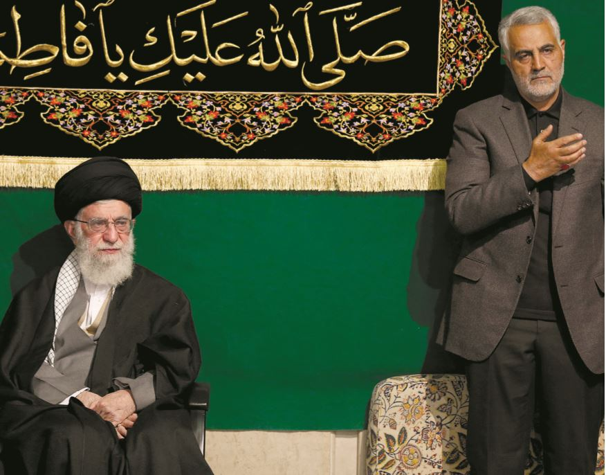 General Qassem Suleimani (right) with Ayatollah Ali Khamenei, the Supreme Leader of Iran. (Courtesy)
