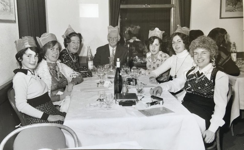 A Frank/Schloss New Years Eve party with all the family, Switzerland 1973. (Courtesy)