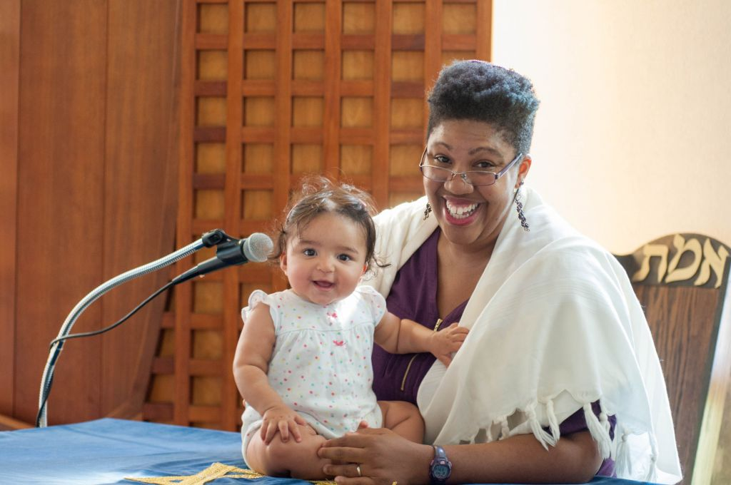 Rabbi Tiferet Berenbaum with daughter Gayla Bracha. (Courtesy)