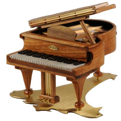 A grand piano mezuzah case by Ric von Neumann. (Courtesy/Libby von Neumann)