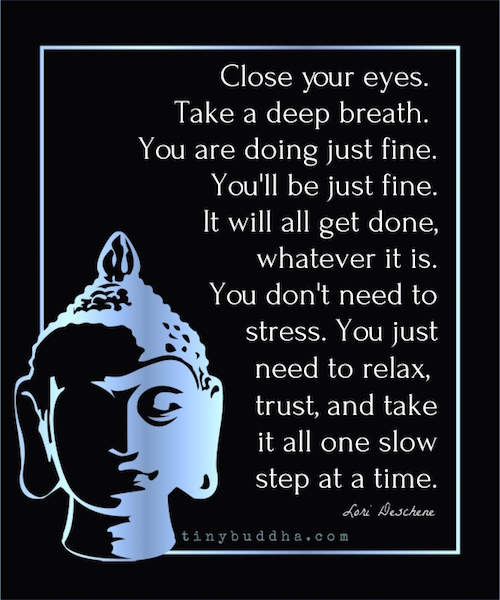 Take it one slow step at a time