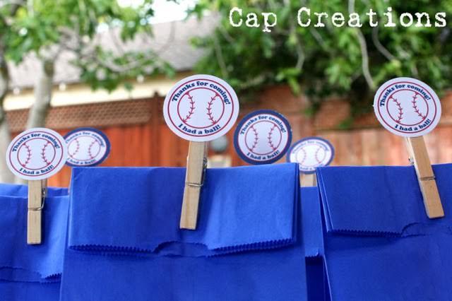 free baseball birthday party printables