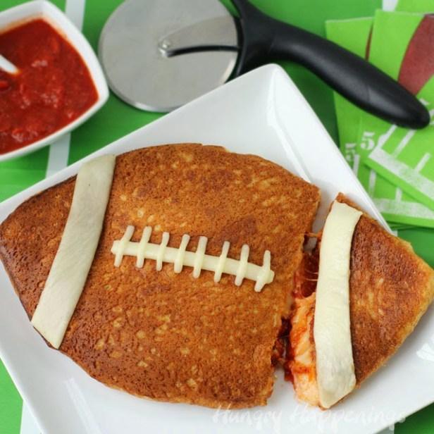 stuffed pizza football