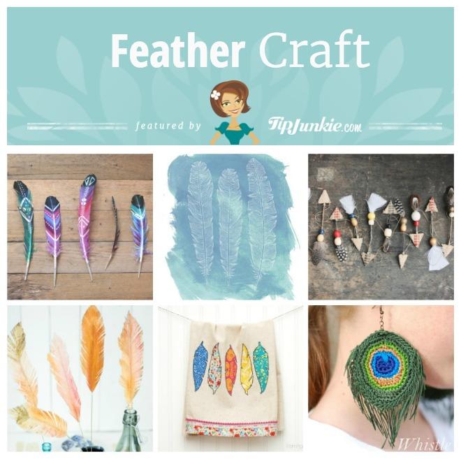 12 DIY Feather Crafts Tip Junkie