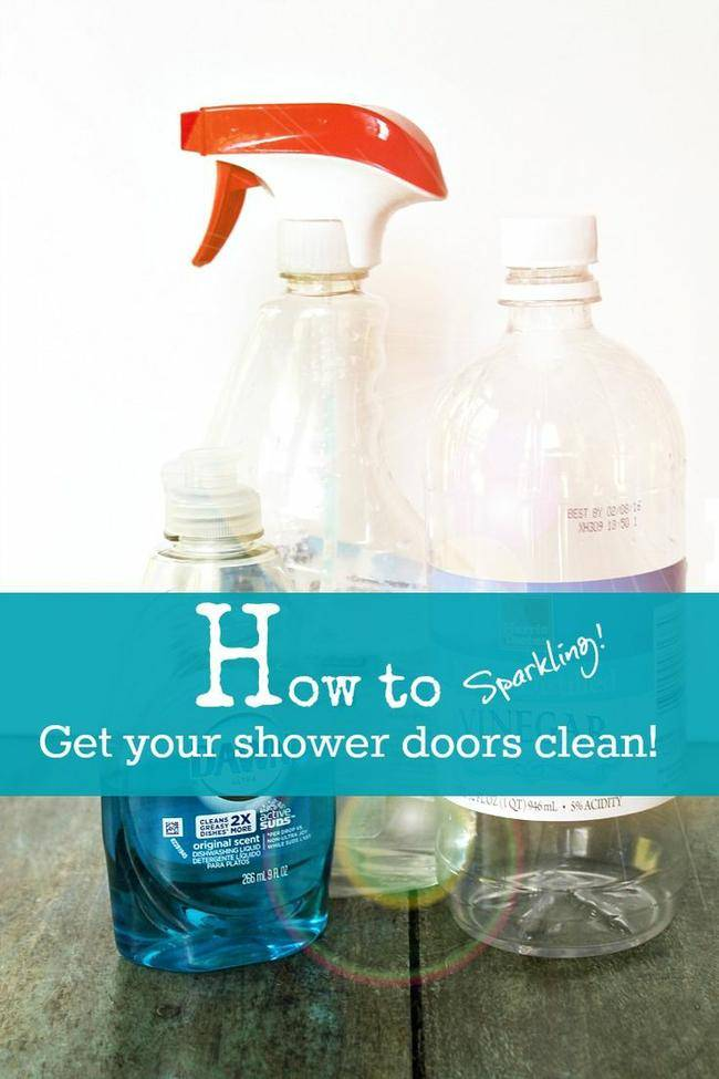 Image Result For How To Clean Shower Doors With Dawn And Vinegar