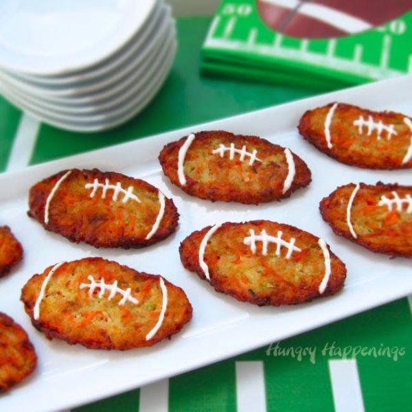 Football Zucchini Fritters
