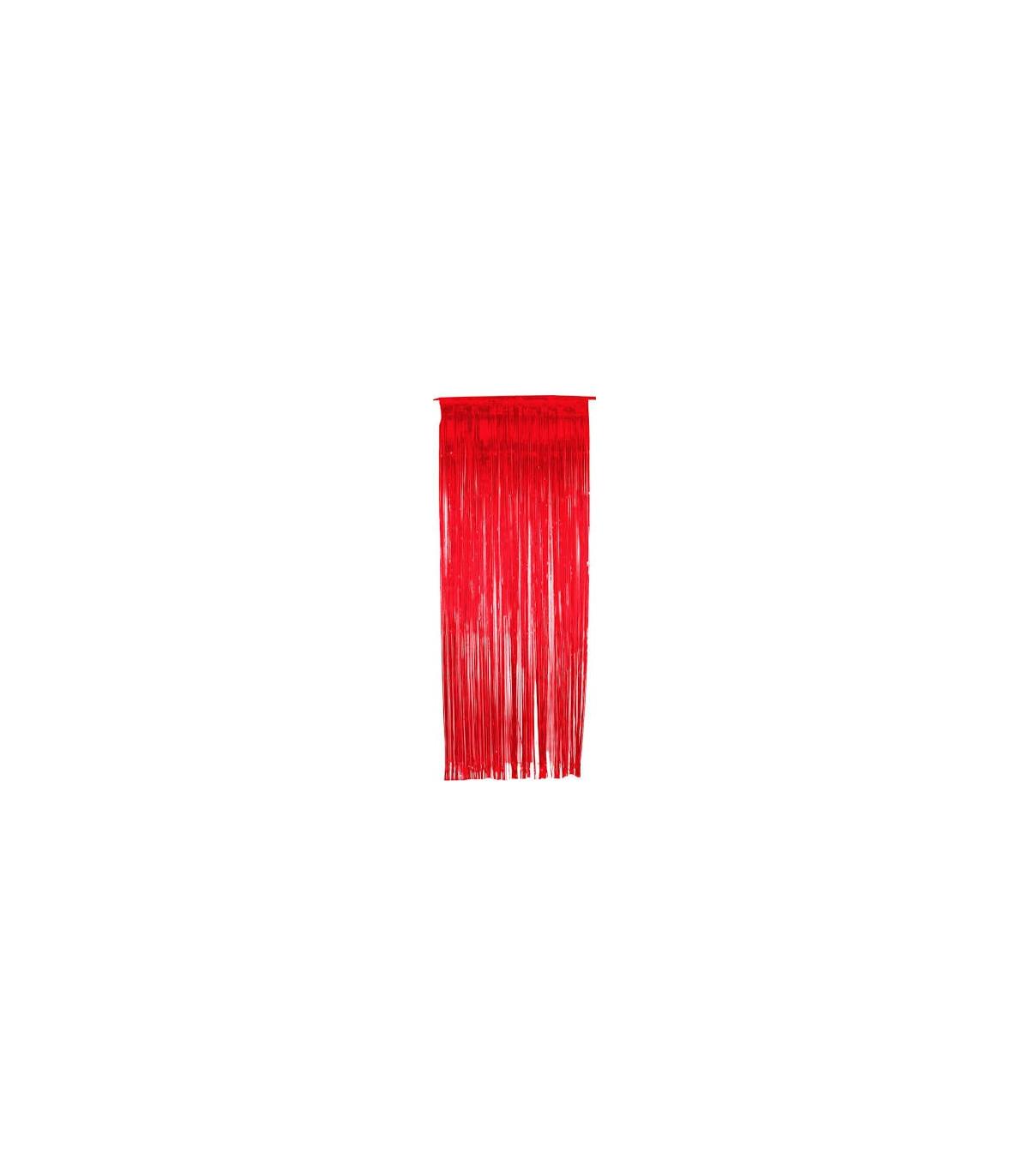 Rideau Scintillant Rouge 92 Cm X 245 Cm Couleur Rouge