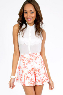 Floral It's Worth Skater Skirt