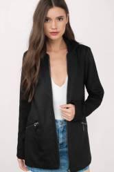 Hooded Up Black Wool Coat