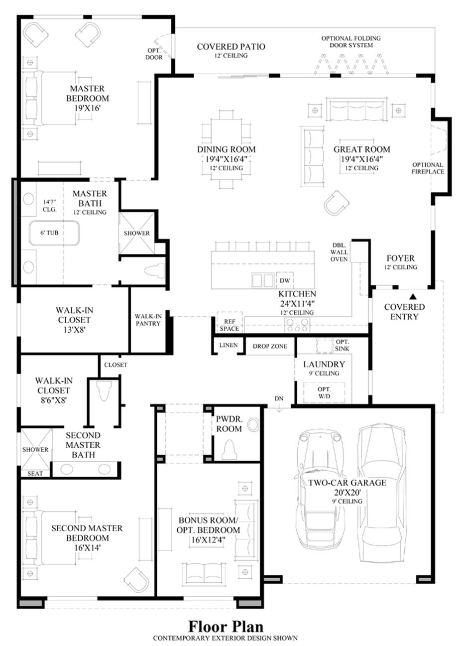 Large Island Kitchen Floor Plans