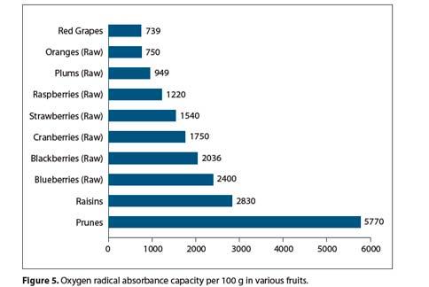 抗氧化蔬果比較。(資料來源/http://www.cosderm.com/pdf/022110576.pdf)