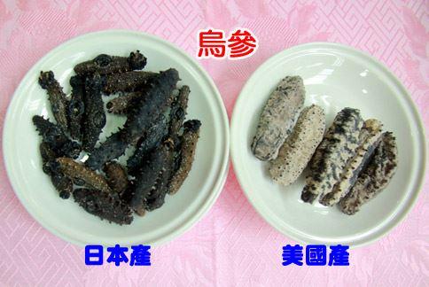 日本產的刺參賣相好、品質佳,要價比美國產的高至少6倍。(攝影/賴羿舟)
